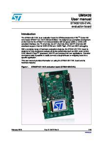 UM0426 User manual. STM3210B-EVAL evaluation board. Introduction