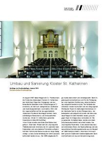 Umbau und Sanierung Kloster St. Katharinen
