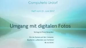 Umgang mit digitalen Fotos
