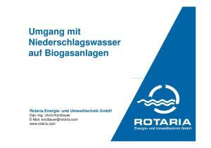 Umgang mit Niederschlagswasser auf Biogasanlagen