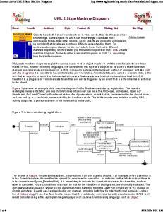 UML 2 State Machine Diagrams