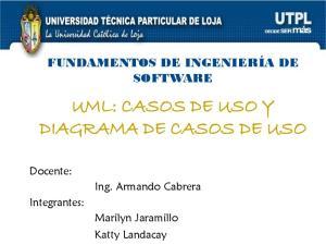 UML: CASOS DE USO Y DIAGRAMA DE CASOS DE USO