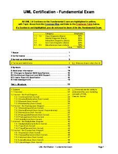 UML Certification - Fundamental Exam