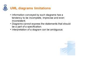 UML diagrams limitations