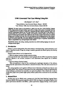 UML Generated Test Case Mining Using ISA