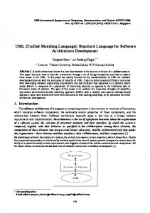 UML (Unified Modeling Language): Standard Language for Software Architecture Development