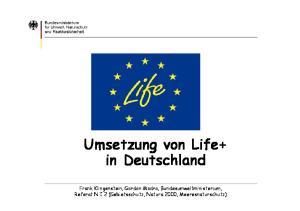 Umsetzung von Life+ in Deutschland