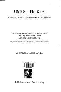 UMTS - Ein Kurs. Universal Mobile Telecommunications System