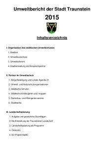 Umweltbericht der Stadt Traunstein