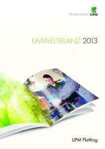 UMWELTBILANZ UPM Plattling
