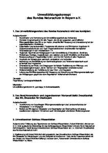 Umweltbildungskonzept des Bundes Naturschutz in Bayern e.v
