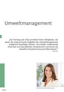 Umweltmanagement. Claudia Nauta, DGQ-Produktmanagerin. Claudia Nauta