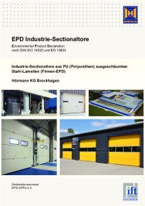 Umweltproduktdeklaration nach ISO und EN Industrie-Sectionaltore