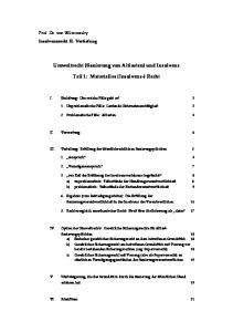 Umweltrecht (Sanierung von Altlasten) und Insolvenz. Teil 1: Materielles (Insolvenz-) Recht