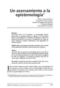 Un acercamiento a la epistemología 1