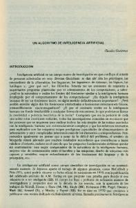 UN ALGORITMO DE INTELIGENCIA ARTIFICIAL