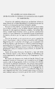 UN ARCRIVERO-BIBLIOTECARIO EN EL COLEGIO-NOVICIADO DE SAN PABLO DEL CAMPO DE BARCELONA