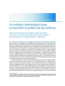 Un enfoque metodológico para comprender la política de las políticas