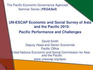 UN-ESCAP Economic and Social Survey of Asia and the Pacific 2010: Pacific Performance and Challenges