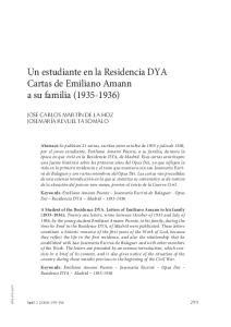 Un estudiante en la Residencia DYA Cartas de Emiliano Amann a su familia ( )