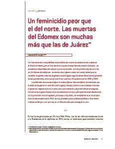 Un feminicidio peor que el del norte. Las muertas del Edomex son muchas más que las de Juárez **
