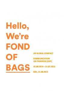 UN GLOBAL COMPACT COMMUNICATION ON PROGRESS (COP)