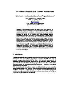 Un Modelo Conceptual para Aprender Bases de Datos