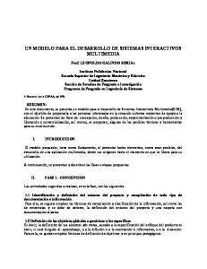 UN MODELO PARA EL DESARROLLO DE SISTEMAS INTERACTIVOS MULTIMEDIA