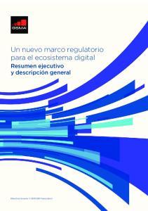 Un nuevo marco regulatorio para el ecosistema digital