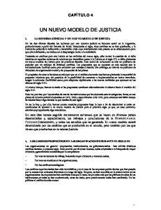 UN NUEVO MODELO DE JUSTICIA