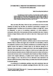 UN PASEO POR LA ARQUITECTURA RESIDENCIAL DE SANT JOAN D ALACANT EN EL SIGLO XIX