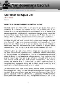 Un rector del Opus Dei