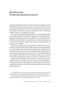 Un relato de la costa totonaca (Veracruz)