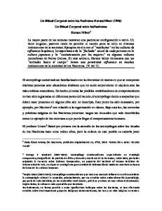 Un Ritual Corporal entre los Nacirema HoraceMiner (1956) Un Ritual Corporal entre losnacirema Horace Miner 1