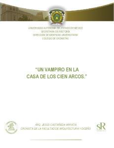 UN VAMPIRO EN LA CASA DE LOS CIEN ARCOS