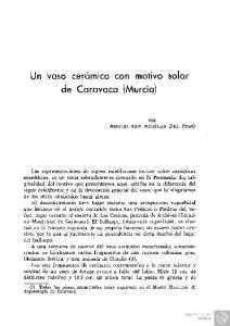 Un vaso cerámico con motivo solar de Caravaca (Murcia)