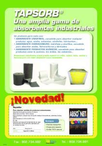 Una amplia gama de absorbentes industriales