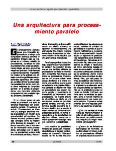 Una arquitectura para procesamiento