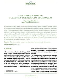 UNA BRECHA AMPLIA: CULTURA Y DESARROLLO ECONOMICO