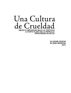 Una Cultura de Crueldad