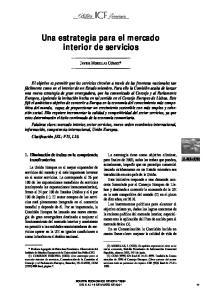 Una estrategia para el mercado interior de servicios