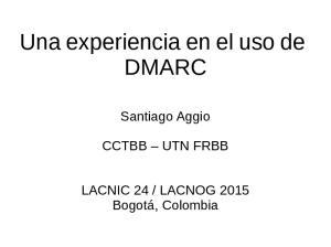 Una experiencia en el uso de DMARC