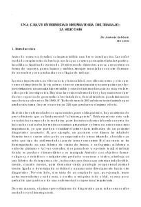 UNA GRAVE ENFERMEDAD RESPIRATORIA DEL TRABAJO: LA SILICOSIS