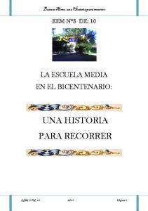 UNA HISTORIA PARA RECORRER