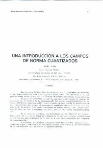UNA INTRODUCCION A LOS CAMPOS DE NORMA CUANTIZADOS