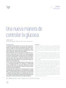 Una nueva manera de controlar la glucosa