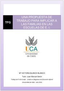 UNA PROPUESTA DE TRABAJO PARA IMPLICAR A LAS FAMILIAS EN LAS ESCUELAS DE E. I