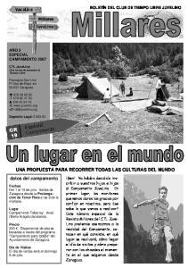 UNA PROPUESTA PARA RECORRER TODAS LAS CULTURAS DEL MUNDO datos del campamento