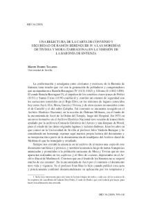 Una relectura de la carta de convenio y