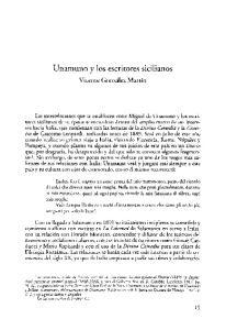Unamuno y los escritores sicilianos